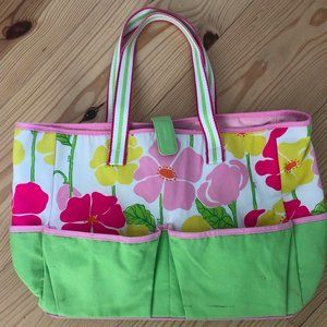 Lilly Pulitzer Tote Bag Floral Diaper Shopping